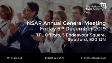 NSAR AGM – Friday 6th December 2019, Stratford London (Members only)