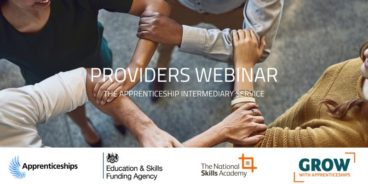National Apprenticeship Provider Webinar: Monday 30th March, 11am